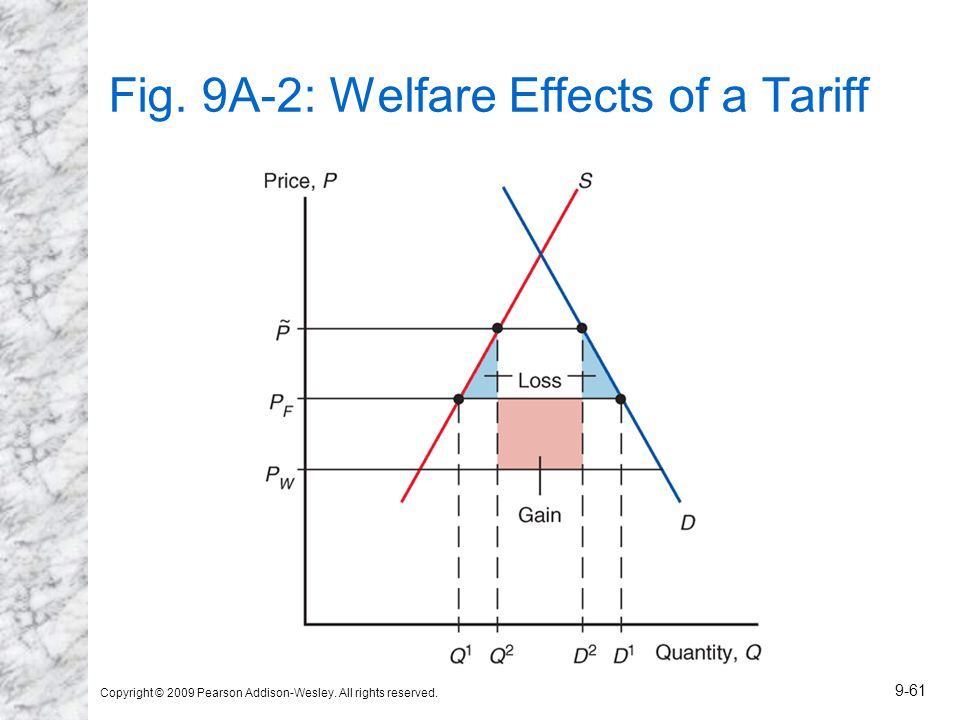 Fig. 9A-2: Welfare Effects of a Tariff