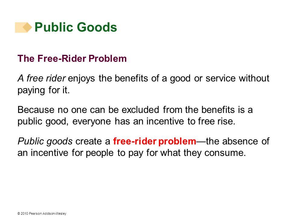 Public Goods The Free-Rider Problem