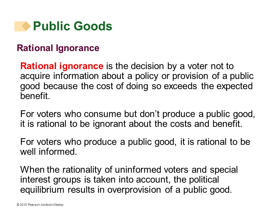 Public Goods Rational Ignorance