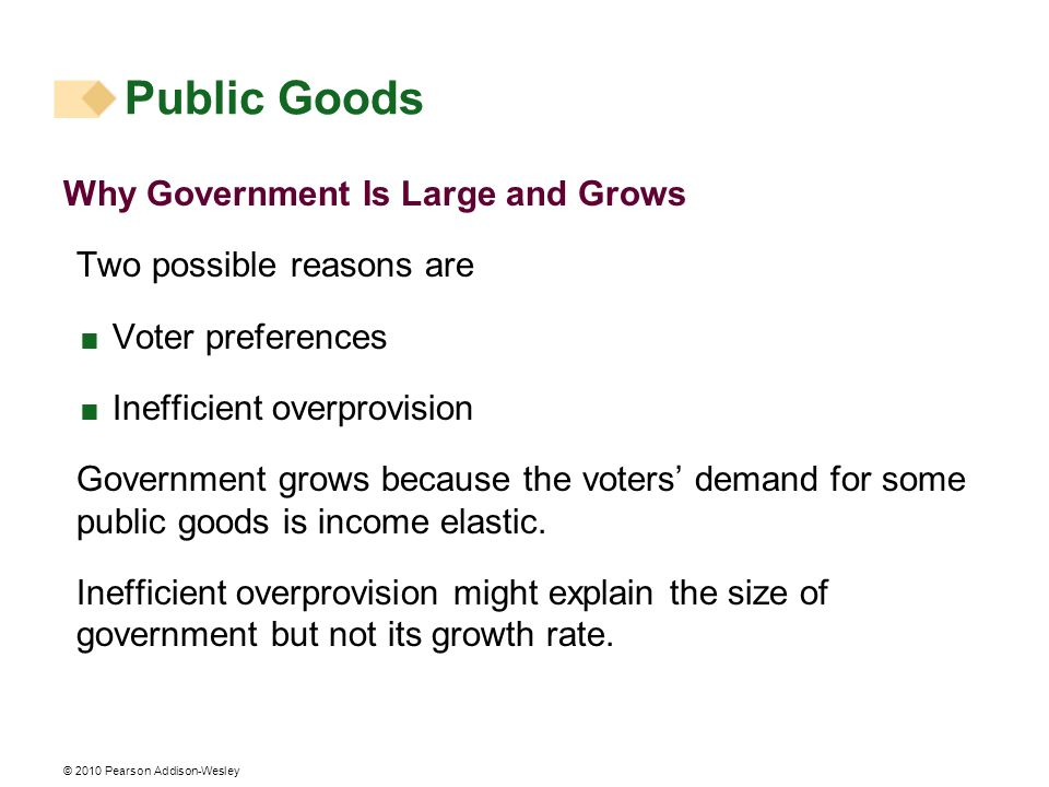 Public Goods Why Government Is Large and Grows