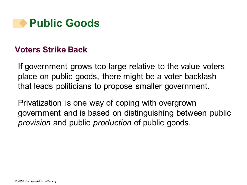 Public Goods Voters Strike Back