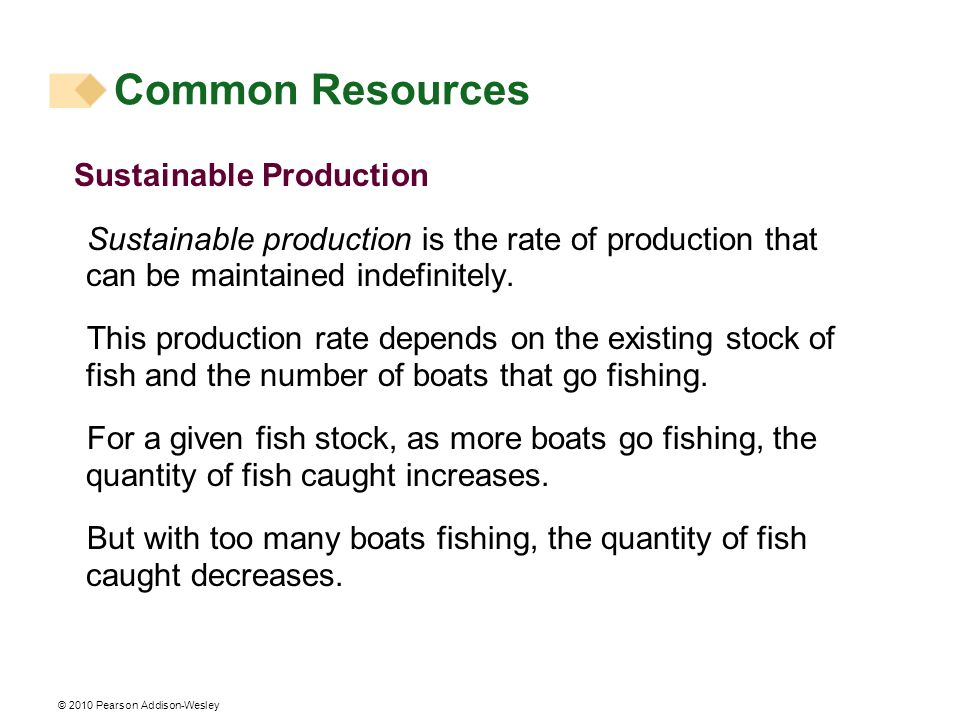 Common Resources Sustainable Production