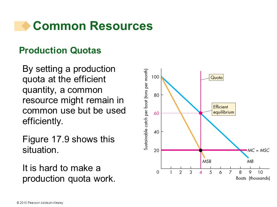 Common Resources Production Quotas