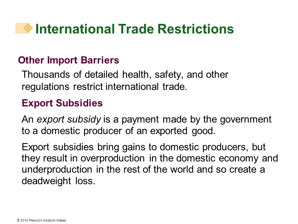 International Trade Restrictions