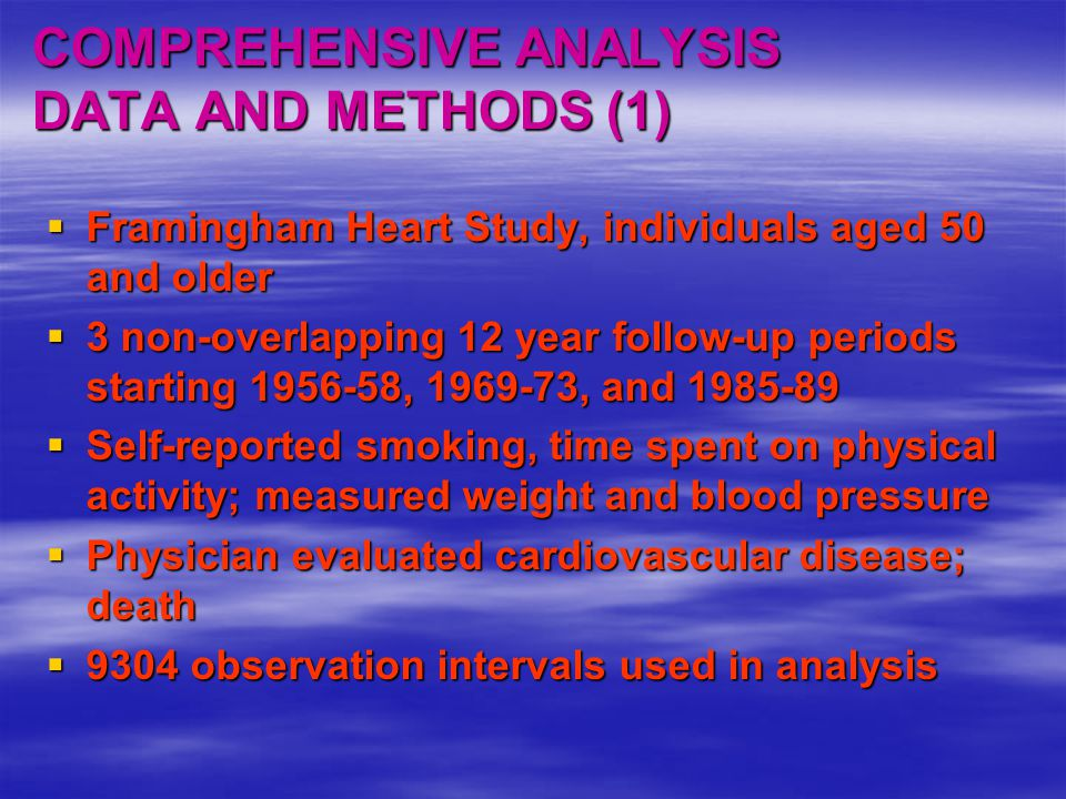 COMPREHENSIVE ANALYSIS DATA AND METHODS (1)