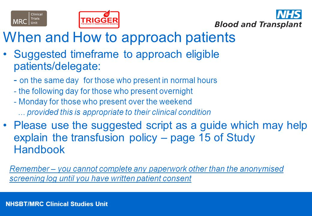 When and How to approach patients