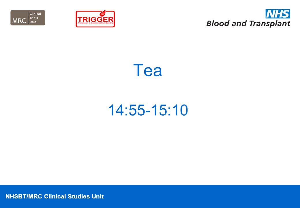 Tea 14:55-15:10
