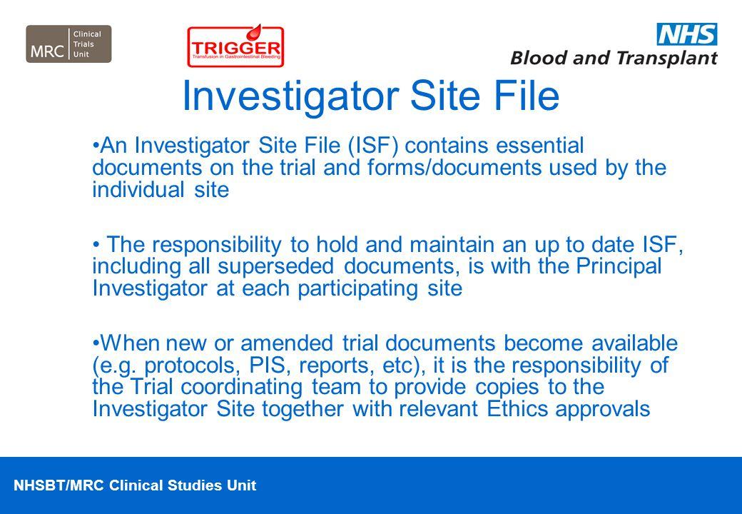 Investigator Site File