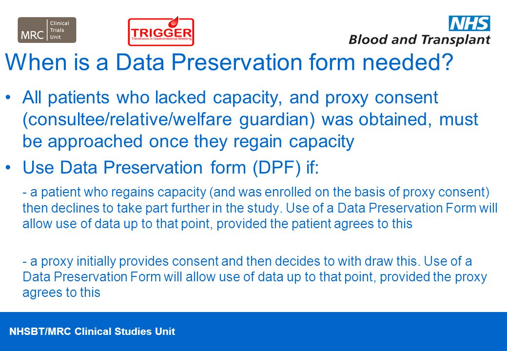When is a Data Preservation form needed