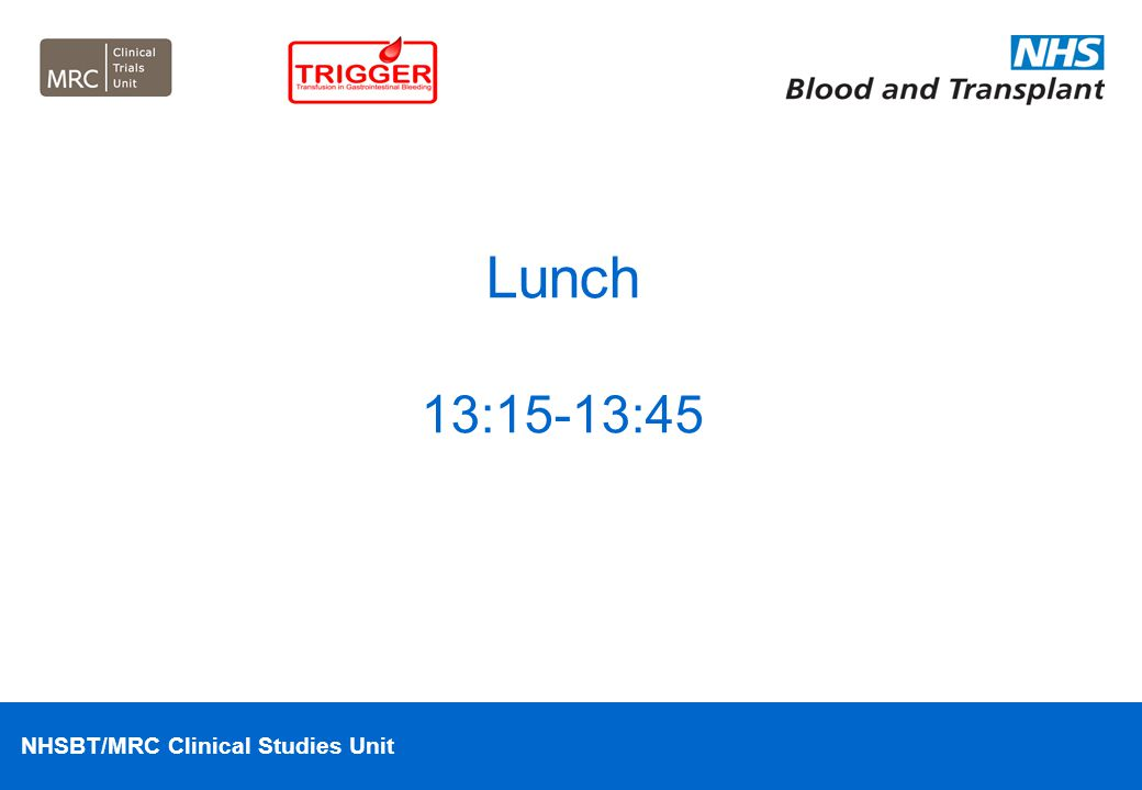 Lunch 13:15-13:45