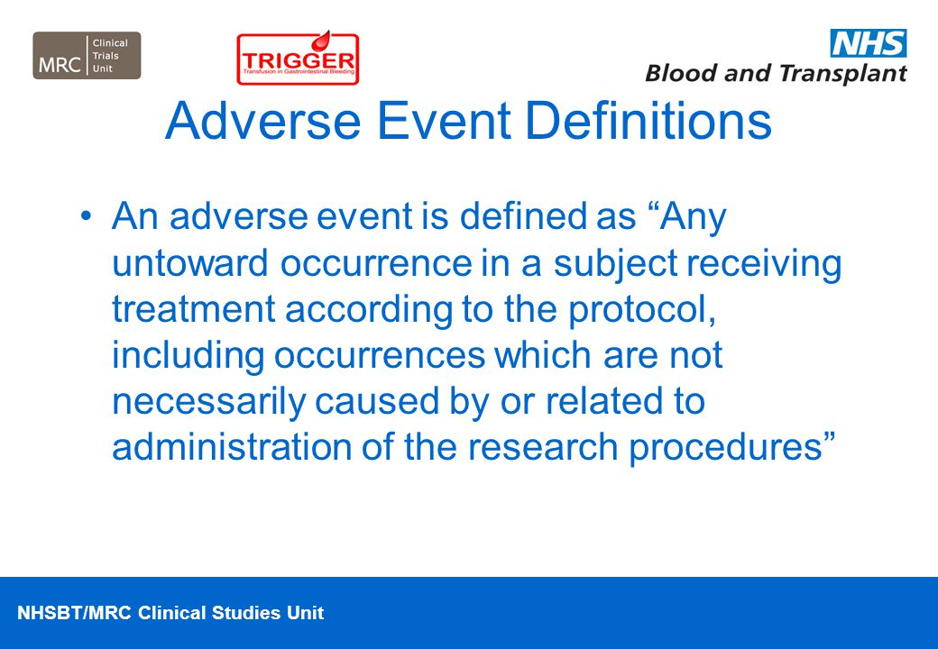 Adverse Event Definitions
