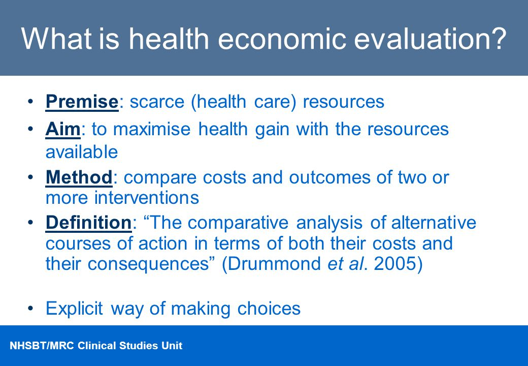 What is health economic evaluation