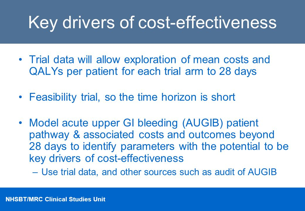 Key drivers of cost-effectiveness