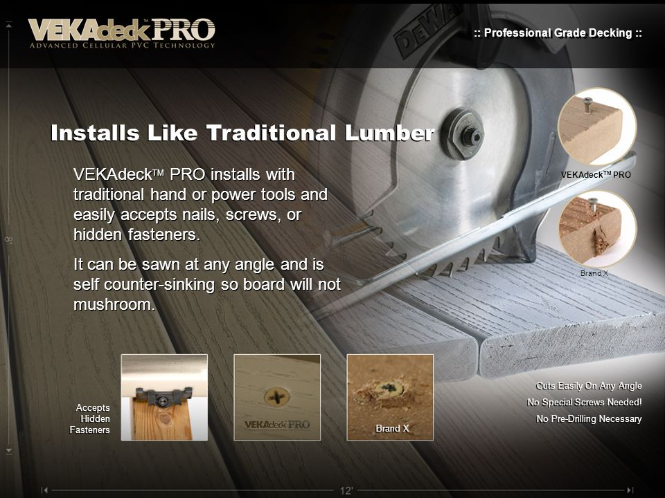 Installs Like Traditional Lumber