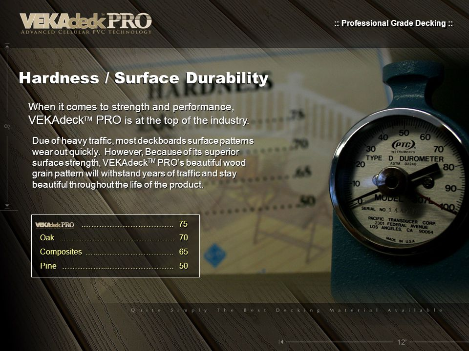 Hardness / Surface Durability