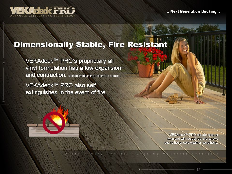 Dimensionally Stable, Fire Resistant