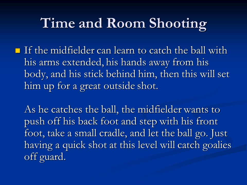 Time and Room Shooting