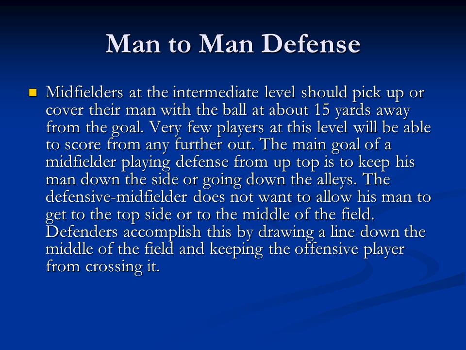 Man to Man Defense