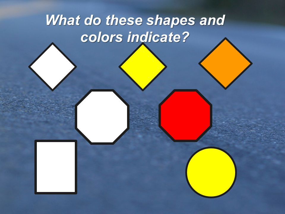 What do these shapes and colors indicate