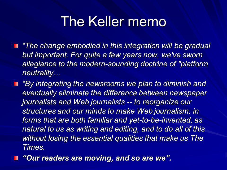 The Keller memo