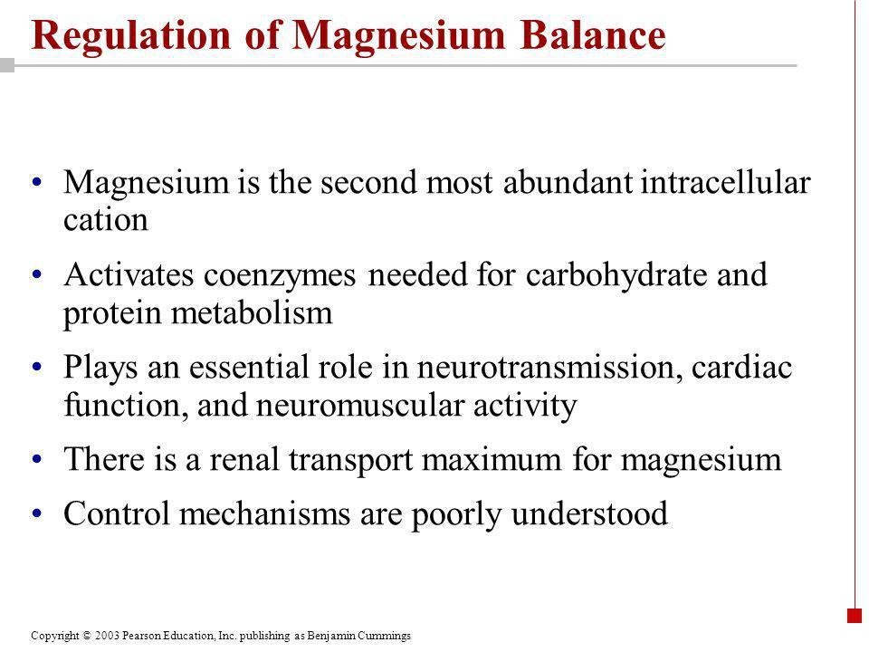 Regulation of Magnesium Balance