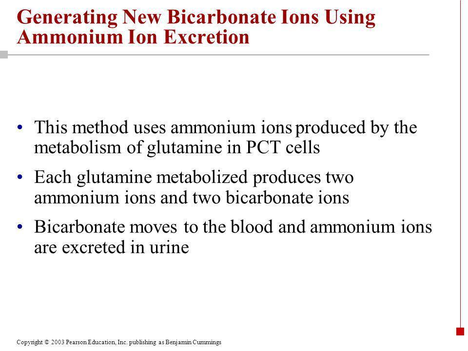 Generating New Bicarbonate Ions Using Ammonium Ion Excretion
