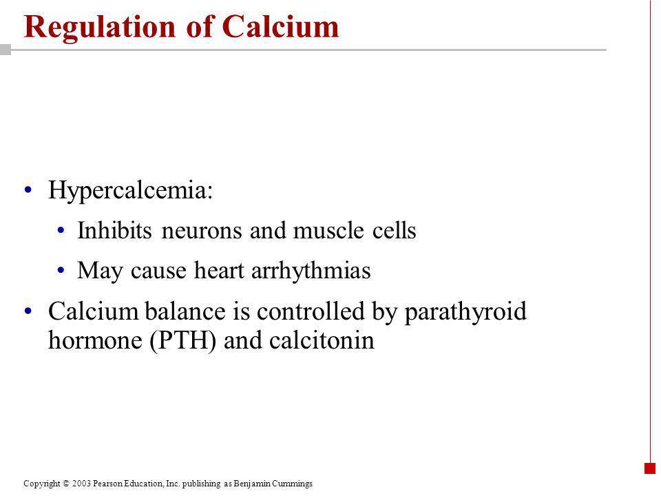 Regulation of Calcium Hypercalcemia: