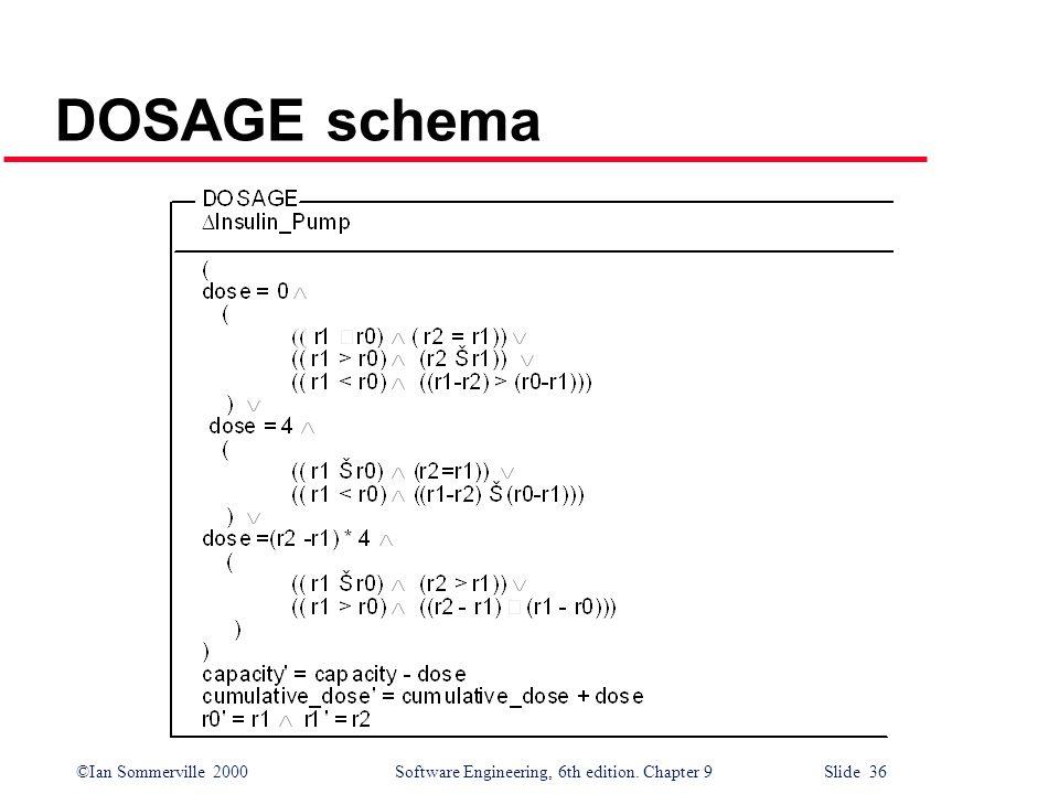 DOSAGE schema