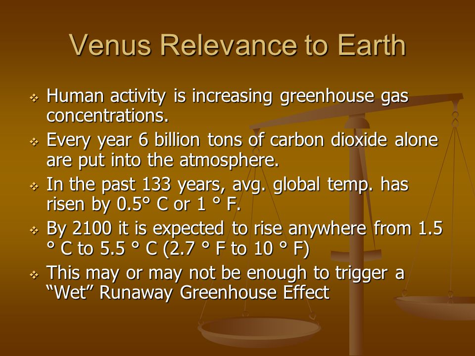 Venus Relevance to Earth