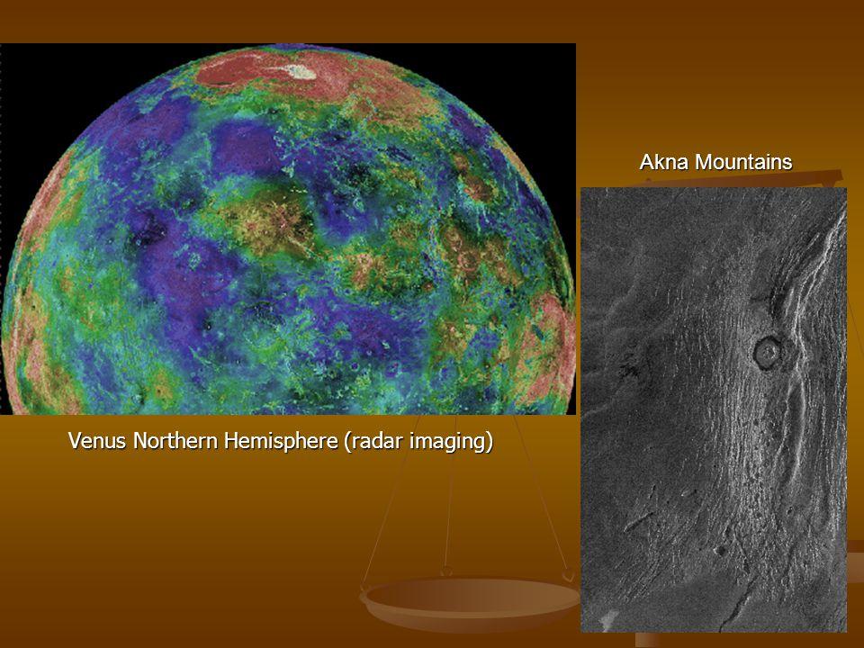 Venus Northern Hemisphere (radar imaging)