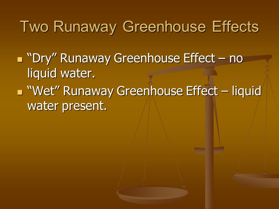 Two Runaway Greenhouse Effects