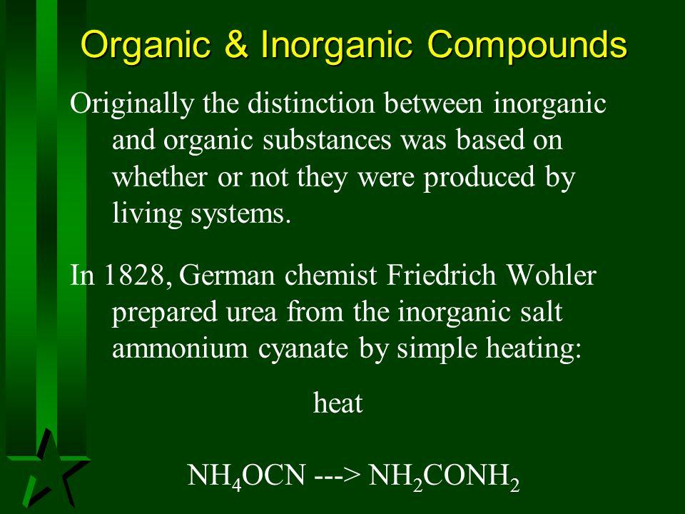 Organic & Inorganic Compounds