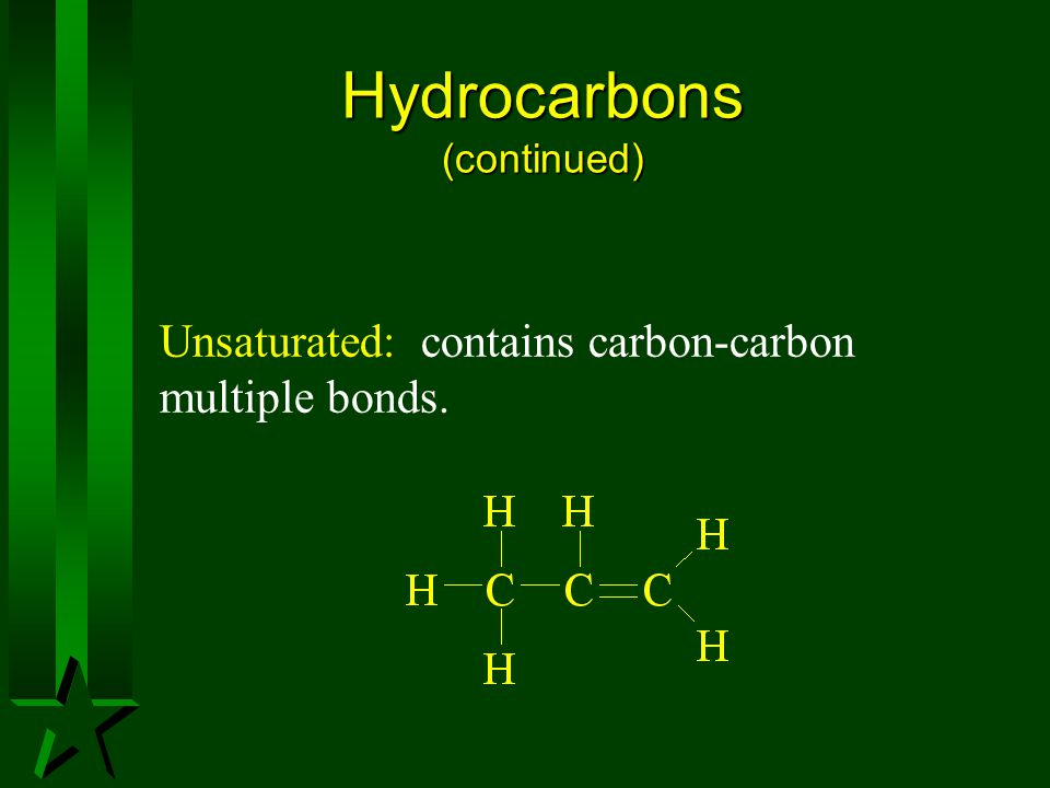 Hydrocarbons (continued)