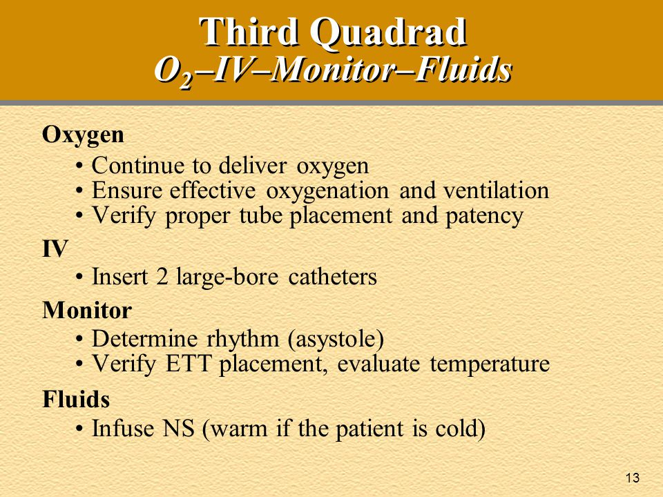 Third Quadrad O2 –IV–Monitor–Fluids