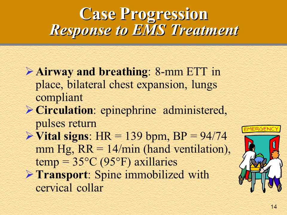 Case Progression Response to EMS Treatment