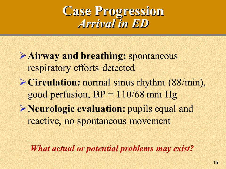 Case Progression Arrival in ED
