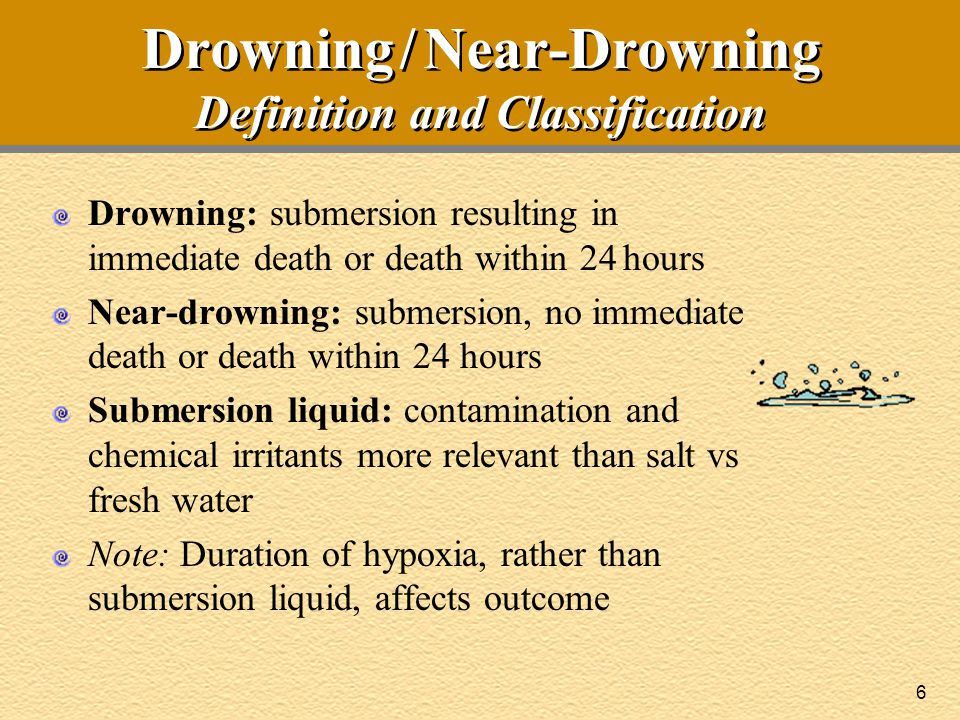 Drowning / Near-Drowning Definition and Classification