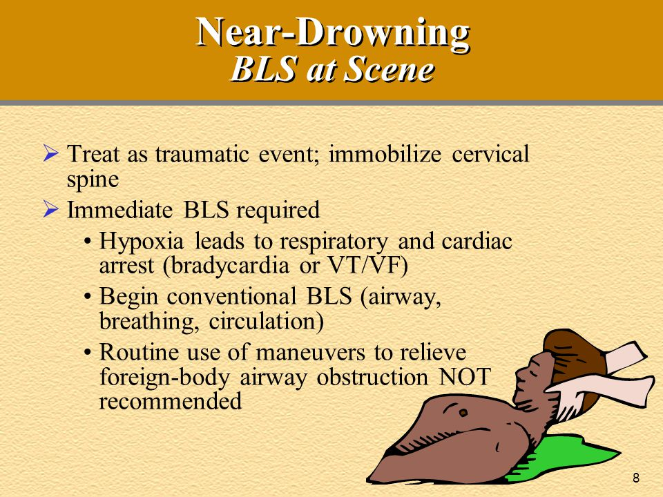 Near-Drowning BLS at Scene