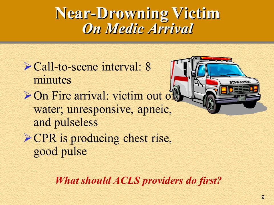 Near-Drowning Victim On Medic Arrival