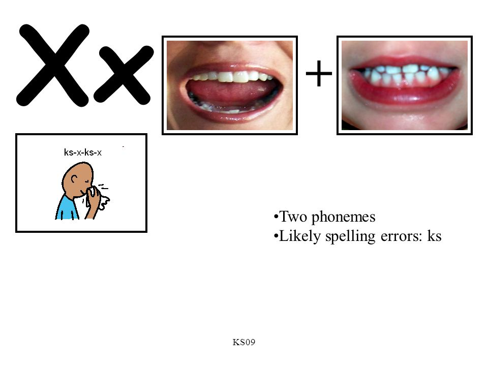 Xx + Two phonemes Likely spelling errors: ks KS09
