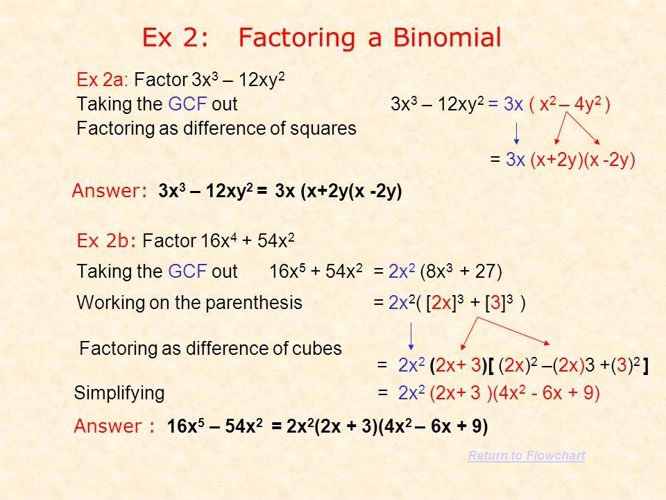 Ex 2: Factoring a Binomial