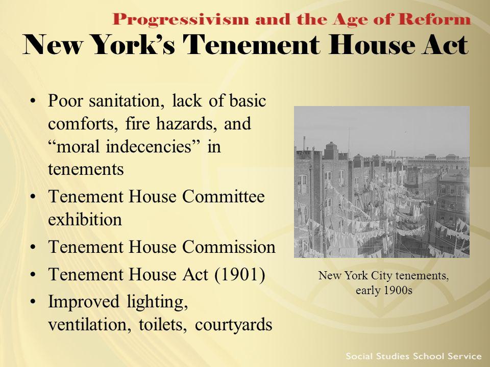 New York's Tenement House Act