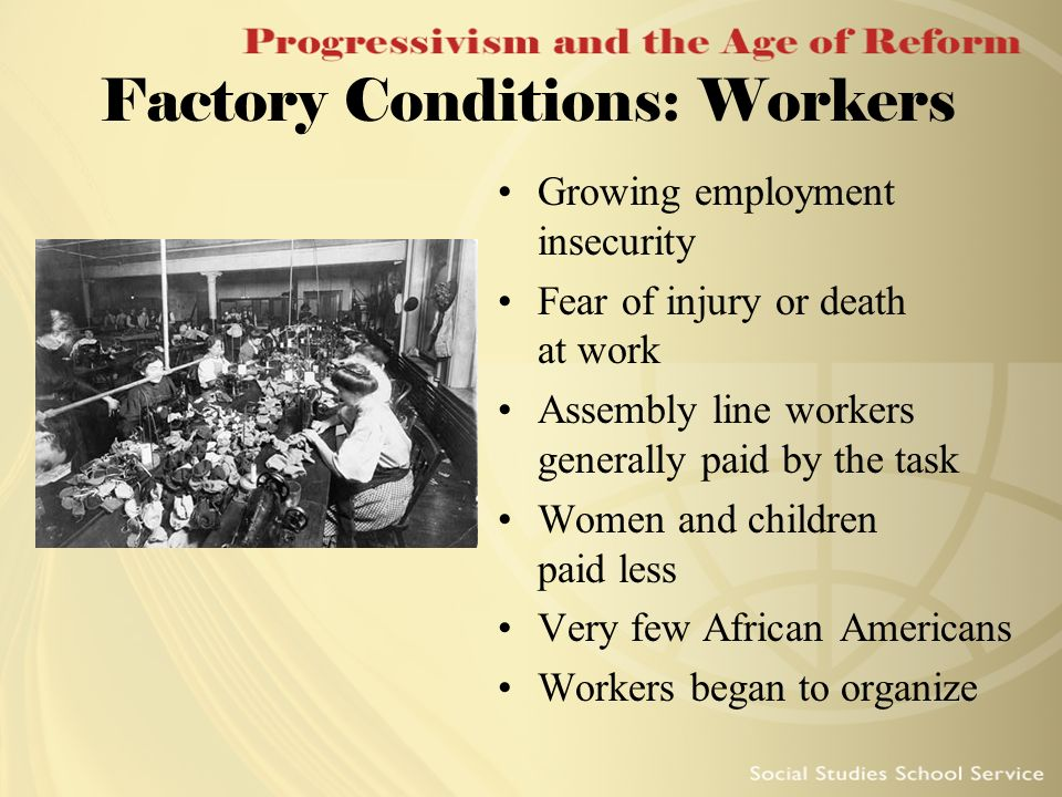 Factory Conditions: Workers