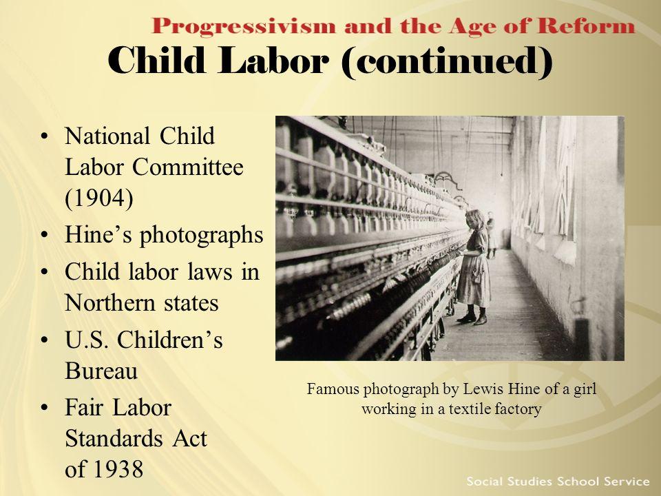 Child Labor (continued)