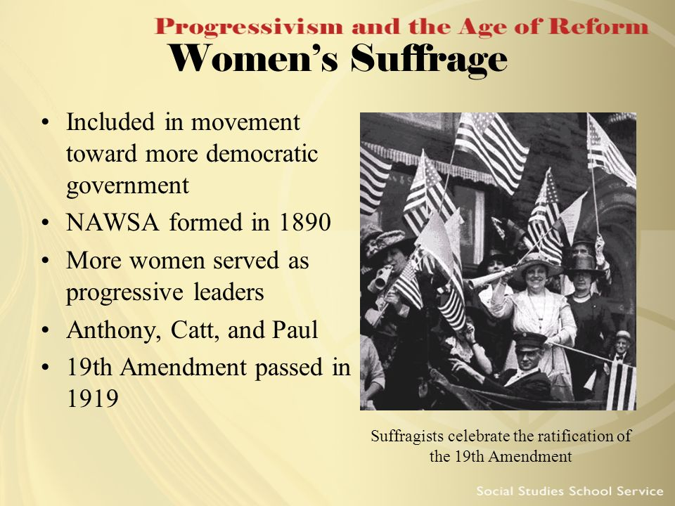 Suffragists celebrate the ratification of the 19th Amendment