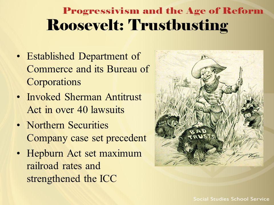 Roosevelt: Trustbusting