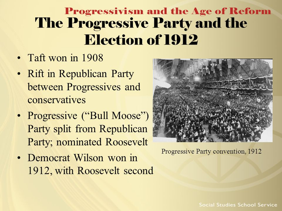 The Progressive Party and the Election of 1912