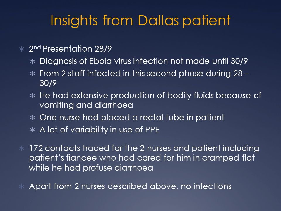 Insights from Dallas patient