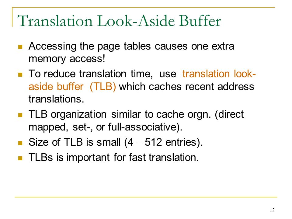 Translation Look-Aside Buffer