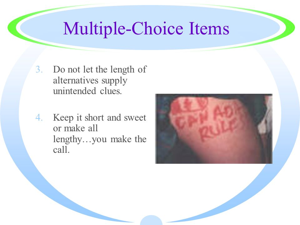 Multiple-Choice Items